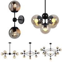 Industrial Modern LED Hanging Chandelier Ceiling Lamp Pendant 2-15 Lights Glass
