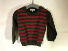Imps & Elfs Toddler Boys Brown Red Striped Sweater Size 3T