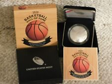 2020-P Basketball Hall of Fame Commemorative Unc Silver Coin!