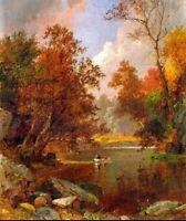 Fine Art CANVAS Print Decor Jasper Francis Cropsey Autumn on the River SM 8x10
