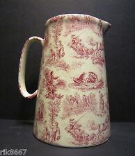 Heron Cross Pottery ROMANCE RED 4 Pint English Milk Jug very big (vase)