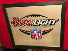 """Coors Light Beer Nfl Mirror 28"""" X 24"""""""