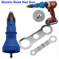 Electric Blind Rivet Pop Nut Gun Cordless Drill Adapter Riveting Insert Tools CN