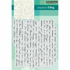 Penny Black Cling Stamps - 40-470 script stamp background