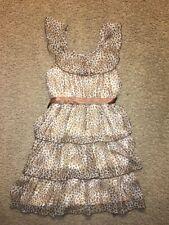 Girl's Sugar xx Leopard Print / Beige / Brown Dress Size 12/14 Spring Summer
