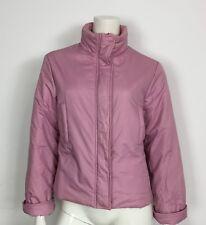Giacca corta giubbotto imbottito inverno primavera donna usata S rosa T462