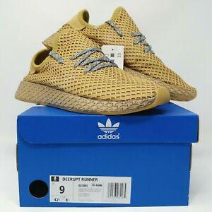 NEW! Adidas Deerupt Runner Running Shoe BD7885 - Men's Sizes 9-14, Raw Sand
