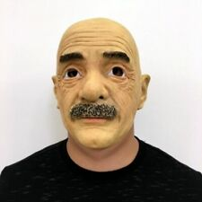 Old Man Latex Mask Female Real Halloween Makeup Costume Realistic Silicone