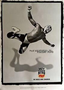 "REY MYSTERIO JR WCW ORIGINAL TNT WRESTLING POSTER 45"" X 32"" 1997 ROLLED MINT"
