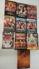 Lot of 10 DVD sets of PRIDE FIGHT CLUB FC Mixed Martial Arts