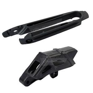 POLISPORT MX SWINGARM CHAIN GUIDE & SLIDER KIT BLACK - KTM SX125 07-10