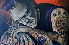 "Lowbrow HEART BREAKER 12"" x 18"" Print by Mike Bell Tattoo FRANKENSTEIN Monster"