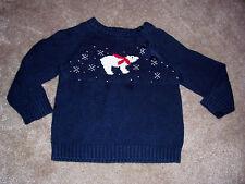 Girls Sonoma Polar Bear Design Navy Sweater Size 18 Months