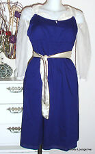 ♥ ESPRIT ♥ Baumwoll Kleid dress Dr slip L / 40 Long Shirt Marine dinner blau