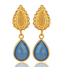 Handmade 14K Gold Plated Brass Beautiful Earring Exclusive Party Wear Jewelry