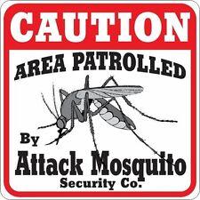 Caution Attack Mosquito Sign