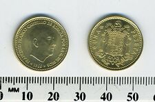 Spain 1966 (75) - 1 Peseta Aluminum-Bronze Coin - Francisco Franco, caudillo