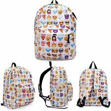 Womens Funny Emoji Emotion Rucksack Handbag Schoolbag Travel Shoulder Backpack