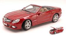 Mercedes SL-550 2009 Amarant Red 1:18 Model MAISTO