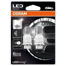Osram LED P27/7W 12V Car Cool White Bulbs Wedge 180 3157 6000K 3557CW-02B (Twin)