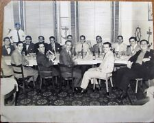 Cuba/Cuban 1950s Photograph: Men in a Restaurant - Cerveza Cristal Beer, 8x10