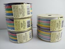 """(5) Lot of Glitterwrap Curling Ribbon 40 yds  each, 3/16"""" Pastel & Primary Color"""