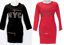 Knielange Mädchenkleider Muster aus Baumwollmischung für alle