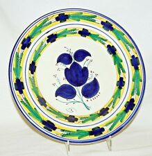 """Vintage Spanish Majolica Plate Charger 12 3/8"""" - Hand Painted - signed Crespo"""