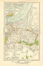 1923 LONDON STREET MAP - THAMES, GALLIONS REACH,ROYAL ARSENAL,PLUMSTEAD,WOOLWICH