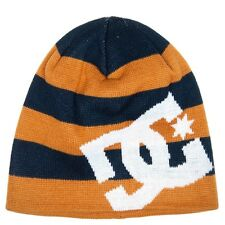 LAST 1 IN STOCK! DC Shoes Mens Big Star Beanie Hat Brown Blue One Size