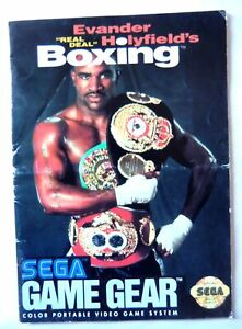 61683 Instruction Booklet - Evander Hollyfield's Boxing - Sega Game Gear (1