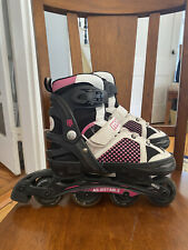 Mongoose Adjustable Inline Roller Blades, Size Youth 1-4 Pink, Girls