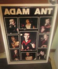 ADAM ANT POSTER  ORIGINAL LATE 1980'S PUNK VINTAGE COLLECTIBLE