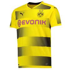 Camisetas de fútbol de manga corta amarillo sin usada en partido