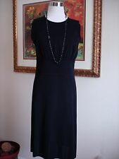 Exclusively Misook Women's Solid Black Sleeveless Sheath Dress Size S NEW!