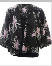 Vero Moda Anna Kimono in Black and Pink cardigan jacket medium