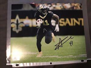 "Alvin Kamara Autographed Signed 8"" x 10"" Photo New Orleans Saints COA NFL"