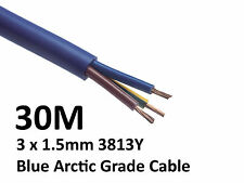 30M Arctic Blue 3183Y Flex Cable 3core x 1.5mm: Outdoor Caravan Camping Artic