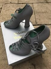 Vivienne Westwood Shoes Baroque Caveman UK 40 Size 7 Grey Suede NEW Super Rare!