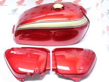 Honda CB 750 Four K2 Lacksatz Candy Ruby Red Tank und Seitendeckel Reproduktion