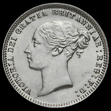 1873 Queen Victoria Young Head Silver Sixpence, Scarce, AU