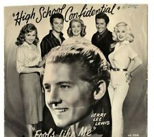 Jerry Lee Lewis  SUN 296  HIGH SCHOOL CONFIDENTIAL (ROCKABILLY 45/PS) HEAR! VG+
