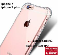 Iphone 7 or Plus 5.5 TPU Side Silicone Clear Protect Protector Cover Case Guard