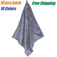 "10 PACK 12""x12"" Microfiber Washcloths Hand Towels for Bathroom Gym Kitchen Clean"