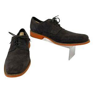 Cole Haan Suede Dress Shoes Mens Size 14 M Brown, Orange Oxford Wingtip C11122