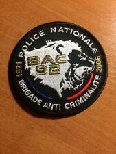 PATCH POLICE FRANCE  BAC 92 SWAT