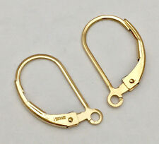 6x Leverback 14k gold filled plain lever back earring ear wire with ring E48g