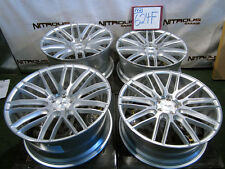 "22"" Rolls Ghost Wraith Staggered Concave Savini BM13 Silver Brushed Wheels W624F"