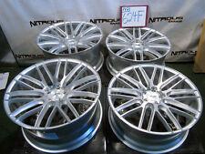 """22"""" Rolls Royce Ghost Wraith Staggered Savini BM13 Silver Brushed Wheels W624F"""