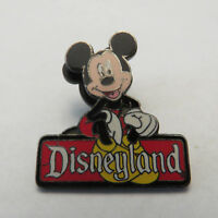 Disney DLR Sitting on Disneyland Sign Series Mickey Mouse Pin